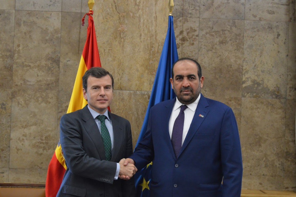 Pablo Saavedra se reúne con el ministro de Medio Ambiente y Agua de Los Emiratos Árabes Unidos