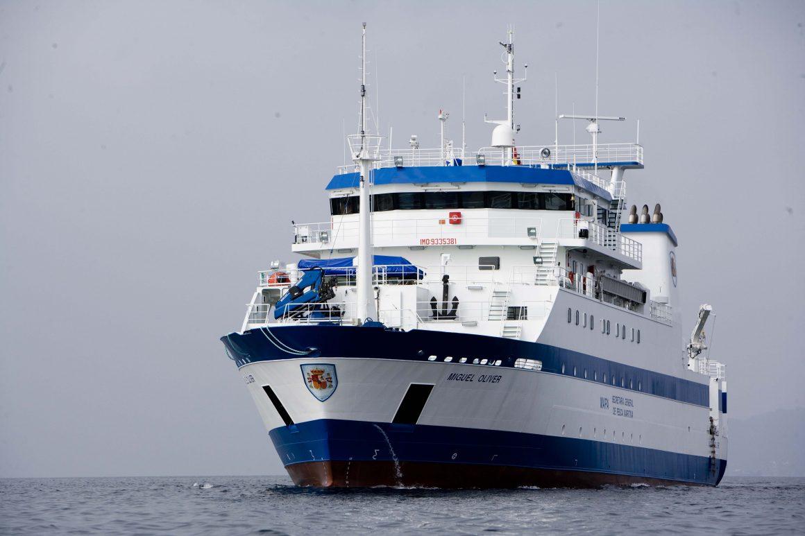 """El buque oceanográfico Miguel Oliver inicia la campaña de evaluación de recursos demersales en el Mediterráneo """"MEDITS_ES_2016"""""""