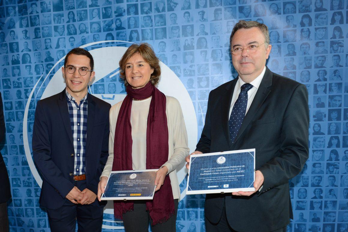 García Tejerina: La capacidad de innovación y el impulso transformador de los jóvenes son imprescindibles para alcanzar los Objetivos de Desarrollo Sostenible de Naciones Unidas