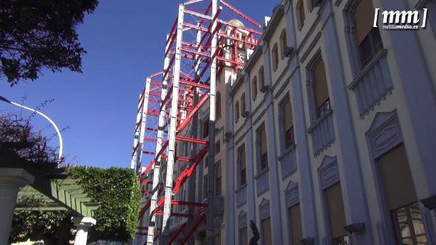 La Ciudad destina 142.000 euros para rehabilitar los torreones del Palacio de la Asamblea