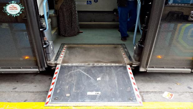 Medio Ambiente remarca que todos los autobuses urbanos cuentan con rampas para sillas de ruedas