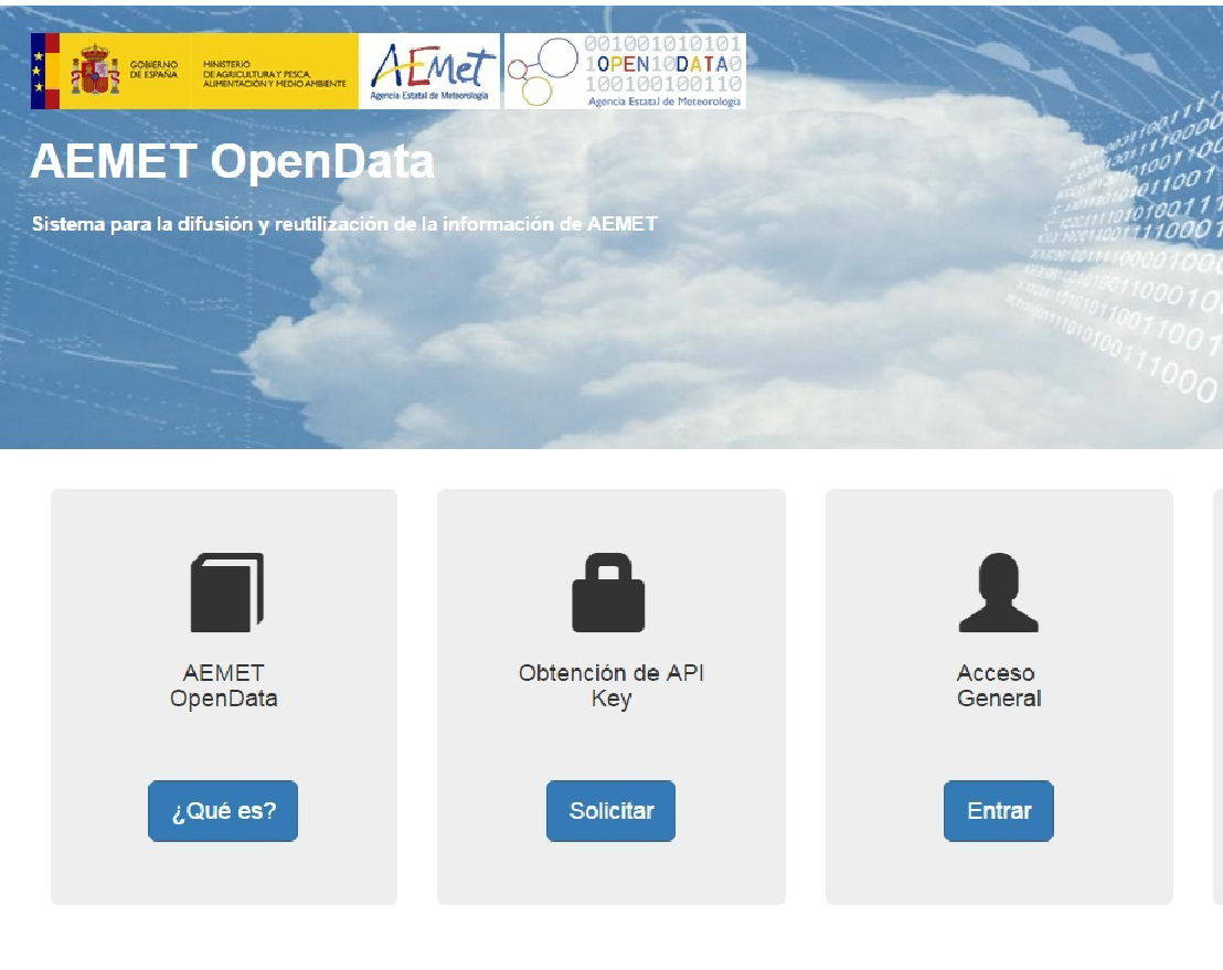 AEMET facilita el acceso a su información meteorológica y climatológica para su reutilización