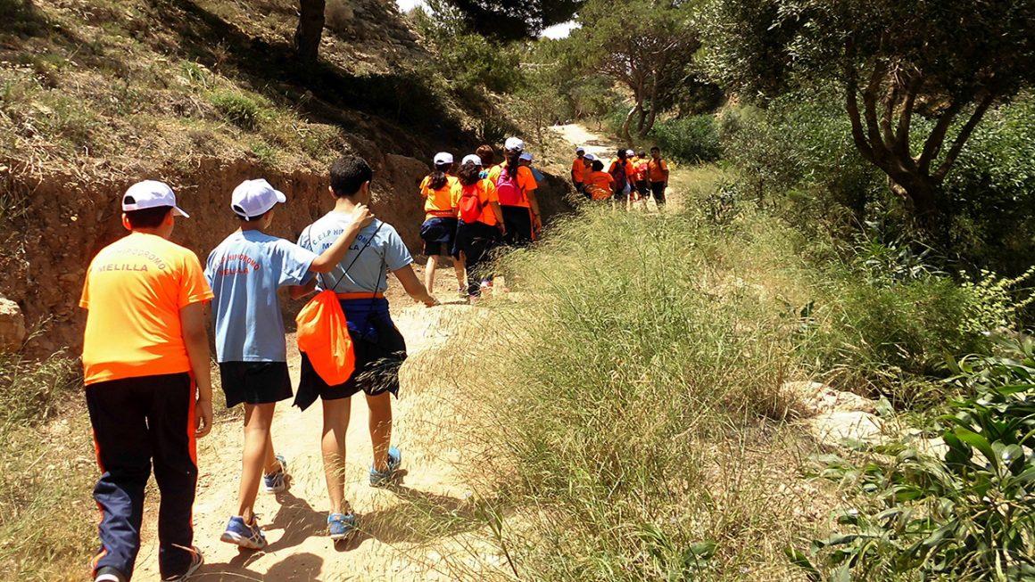 Escolares melillenses conocen los espacios incluidos en la Red Natura 2000