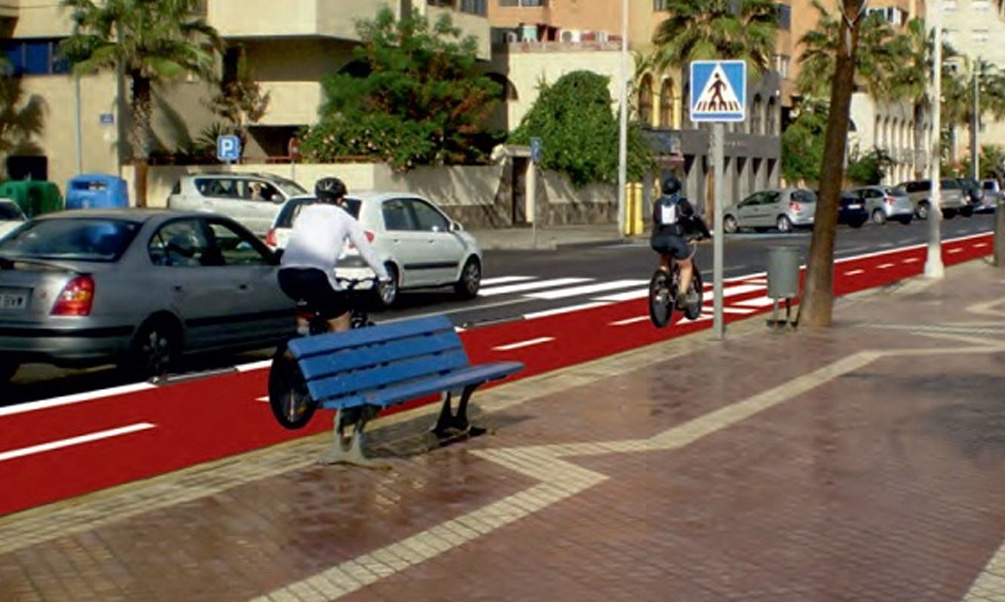 El extendido del microaglomerado del carril bici se realizará entre el 6 y el 8 de agosto