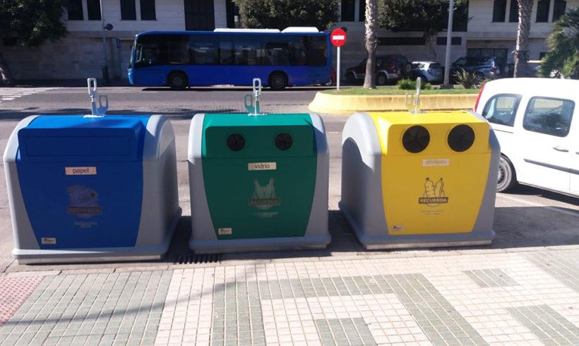 Nuevos contenedores de recogida de vidrio, papel y cartón