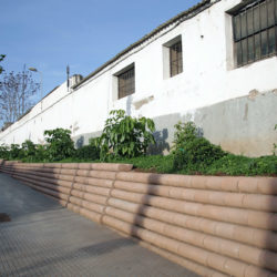 Concluye la adecuación del acerado perimetral de la Calle Hospital Militar