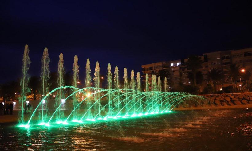 La desembocadura del Río de Oro ya luce su nueva canalización e iluminación nocturna