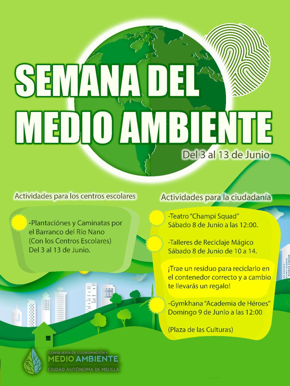 Comienza la Semana del Medio Ambiente, con actividades hasta el 13 de junio