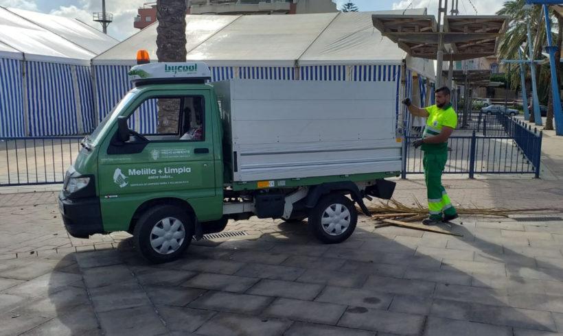 La Consejería refuerza el servicio de limpieza durante la Feria