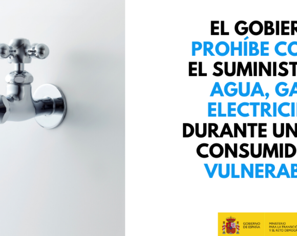 El Gobierno prohíbe el corte de suministro de agua, electricidad y gas natural a consumidores vulnerables durante un mes prorrogable
