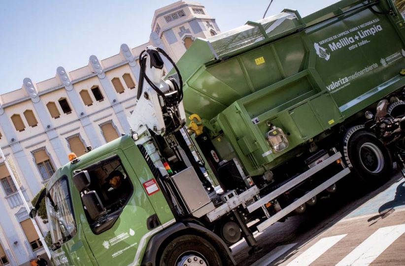 Valoriza modifica su servicio para aumentar la desinfección y la salubridad de las calles de Melilla