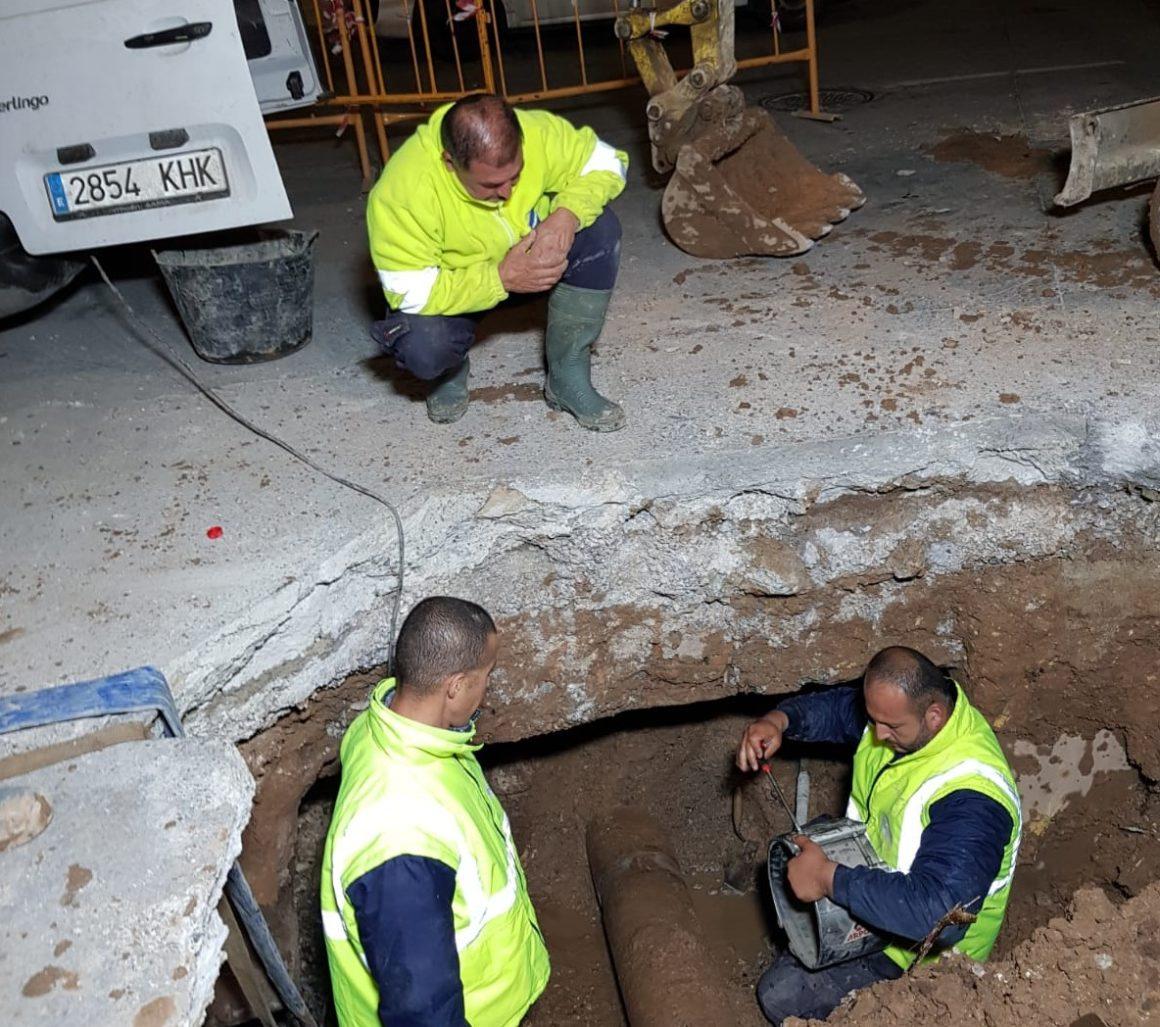 Reparada la avería que afectaba al suministro en Ibáñez Marín, El Príncipe, Las Palmeras y parte de La Cañada