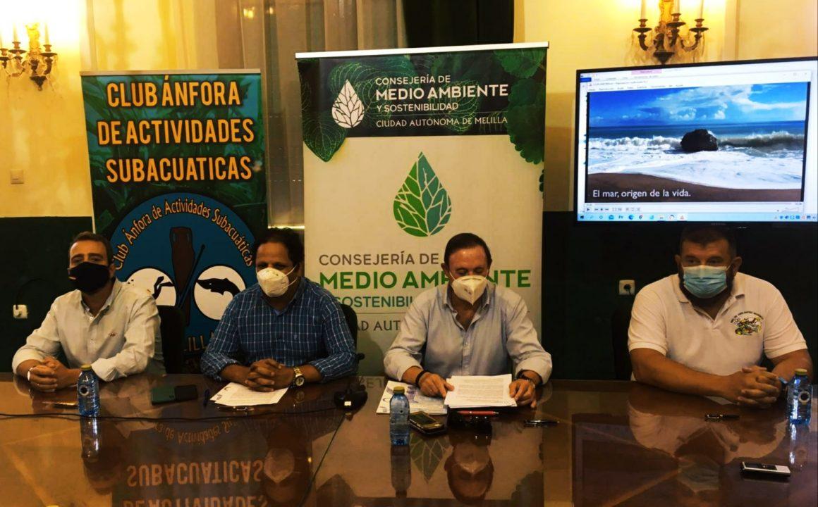 Acuerdo con los clubes de buceo para proteger y conservar la biodiversidad marina de Melilla