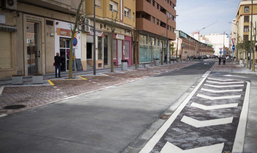 Abierto al tráfico un carril de circulación entre la Plaza de la Goleta y Marqués de los Vélez