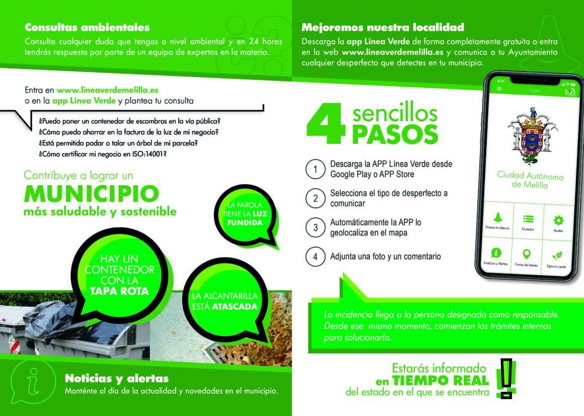 La Ciudad Autónoma crea 'Línea Verde', una aplicación para comunicar incidencias a la Administración