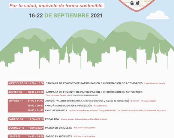 La Consejería de Medio Ambiente y Sostenibilidad organiza diferentes actividades con motivo de la celebración de la Semana Europea de la Movilidad 2021